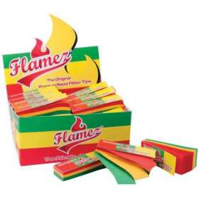 Box of Paperboard Filter Tip Rasta Flamez