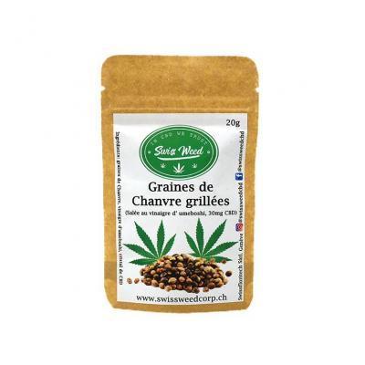 Roasted Bio Hemp seeds - Swiss Weed Corp