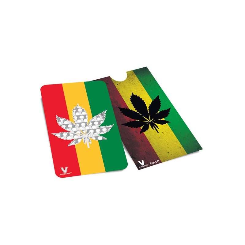 Grinder Card Rasta Hemp Leaf - V Syndicate