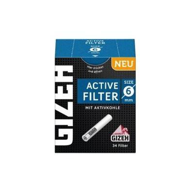 Gizeh - Filtre actif 6 mm avec charbon actif