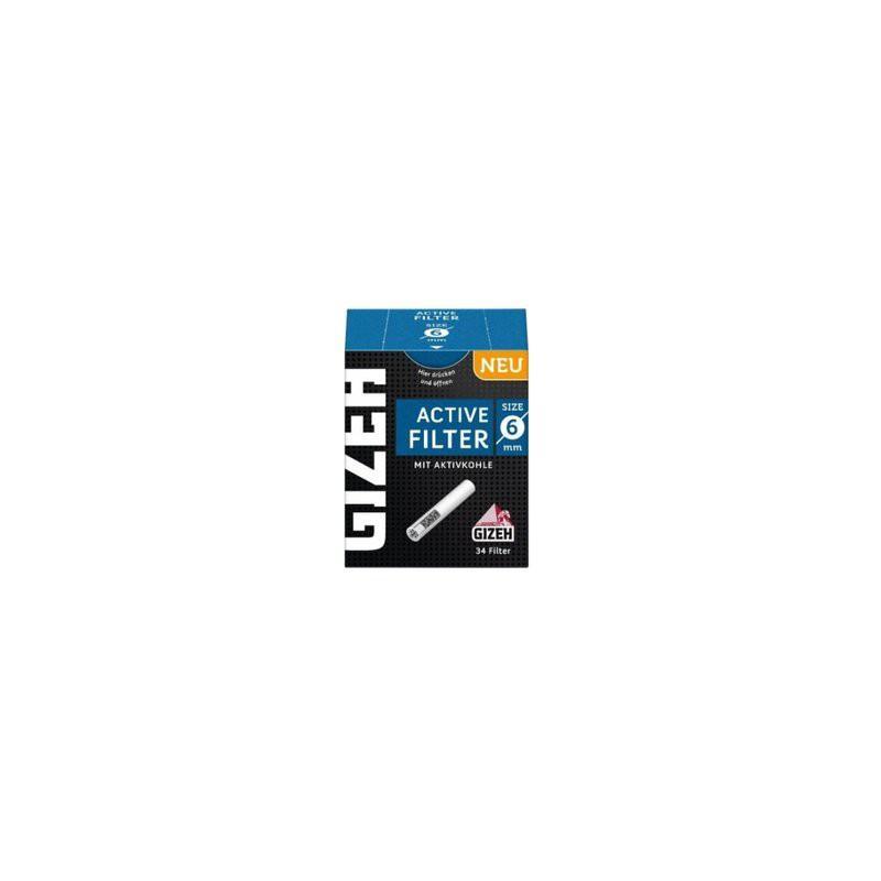Gizeh - Filter mit Aktivkohle 6 mm, Filters