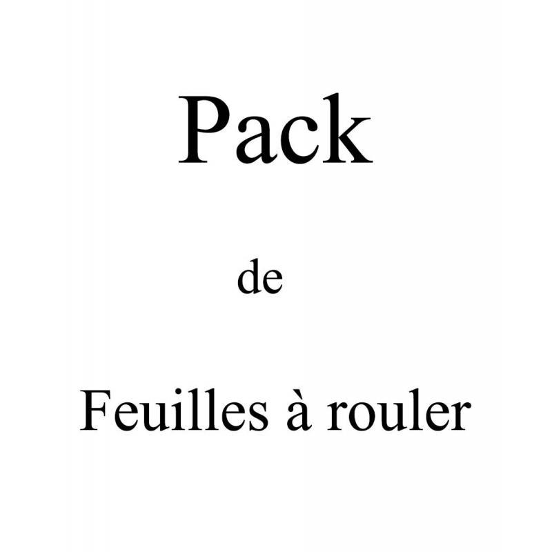 Packung mit 6 Packungen Standard-Rollblechen + Filter aus Karton