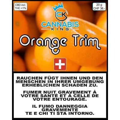 Orange Trim - Cannabis King - Schweizer CBD Blüten