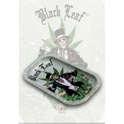 Plate Herb bowl Black Leaf Hempmaster 206x105x18mm
