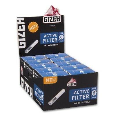 Gizeh - Filtre avec charbon actif 6 mm box 10x, Filtres