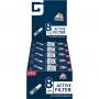 Aktivkohlefilter 8 mm box 25 x 10 - Gizeh