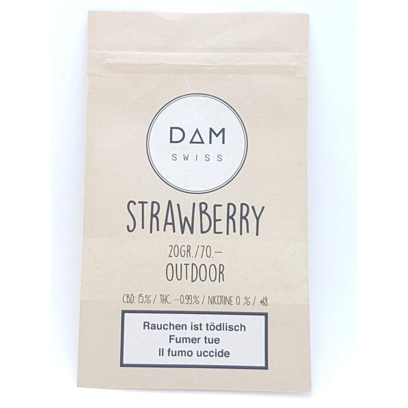 Strawberry - Dam Swiss, Fleurs de CBD