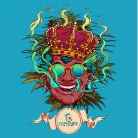 "Sticker ""Olivier Bonhomme"" Blue - Cannabis King®, Cannabis King"