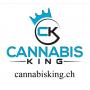 """Autocollant """"Cannabis King"""" Blanc - Cannabis King®"""
