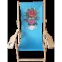 "Chaise longue ""Olivier Bonhomme"" Bleu - Cannabis King®"