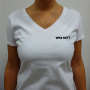 """T-Shirt Blanc """"Why Not?"""" Pour Femme By Ivanart - Why Not"""