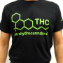 """T-Shirt Noir Unisexe """"THC"""" By CannaPassion - Why Not"""
