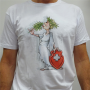 "T-Shirt Blanc Unisexe ""Elvezia"" By Ivanart - Why Not"